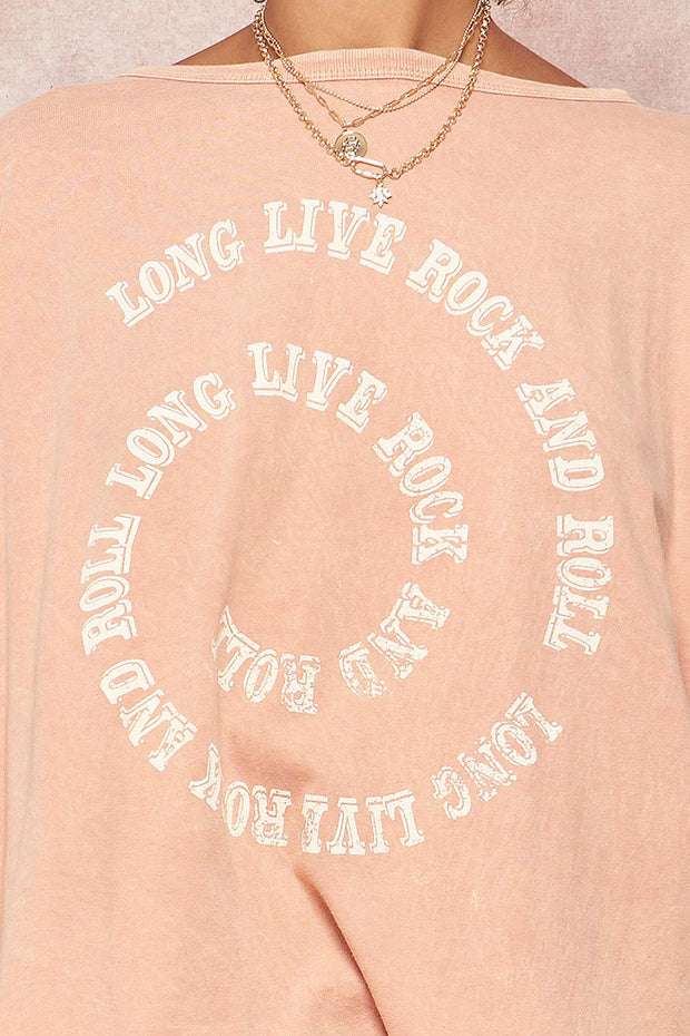 Rock & Roll Vintage Long-Sleeve Graphic Tee - ShopPromesa