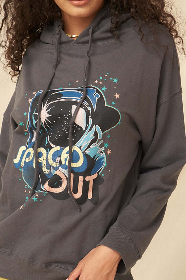 Spaced Out Garment-Dyed Vintage Graphic Hoodie - ShopPromesa