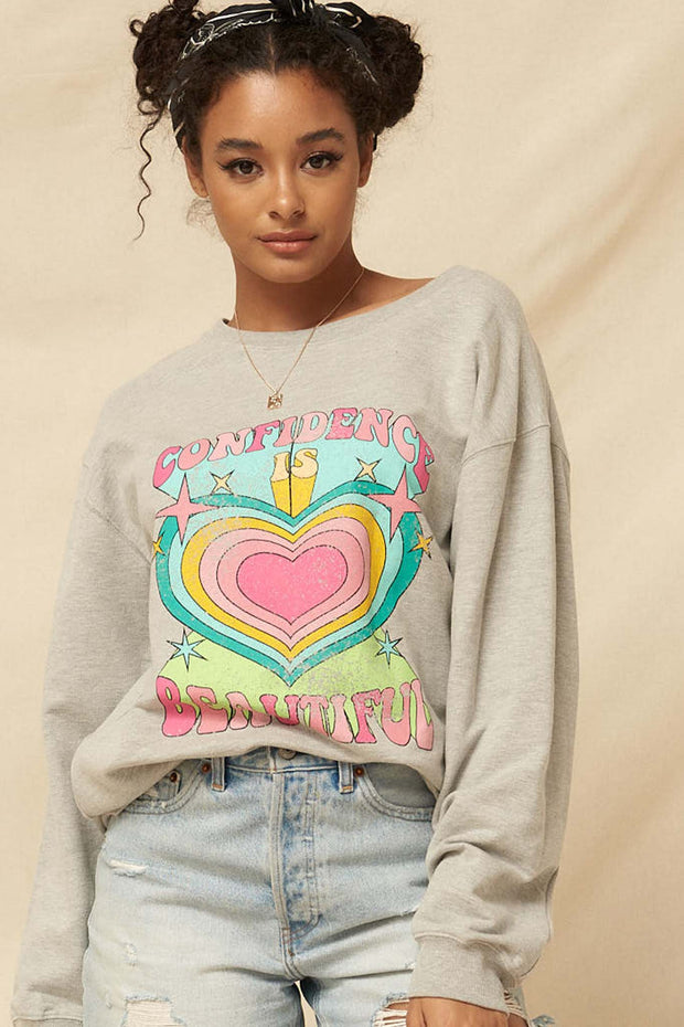 Confidence Is Beautiful Vintage Graphic Sweatshirt