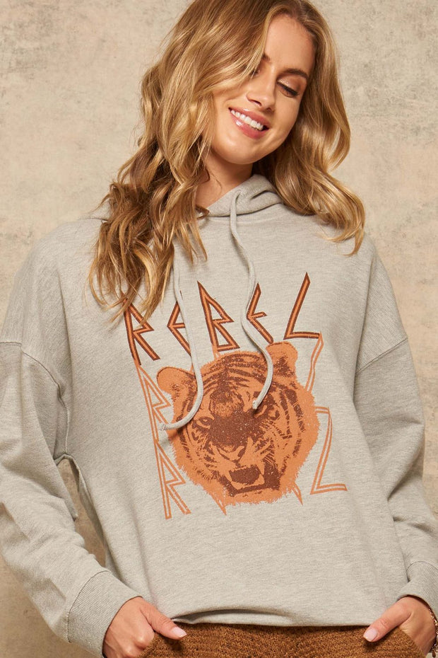 Rebel Tiger Vintage Graphic Hoodie