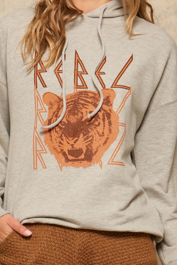 Rebel Tiger Vintage Graphic Hoodie - ShopPromesa