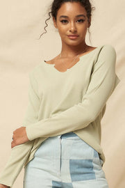 Fun Fest Vintage Split-Neck Thermal Waffle Top - ShopPromesa