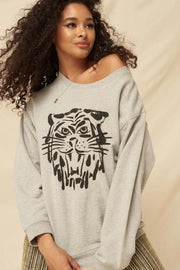 Wild Tiger Vintage Graphic Sweatshirt