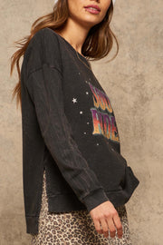 Soul Rider Vintage-Washed Graphic Sweatshirt - ShopPromesa