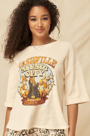 Nashville Vintage Half-Sleeve Thermal Graphic Top - ShopPromesa