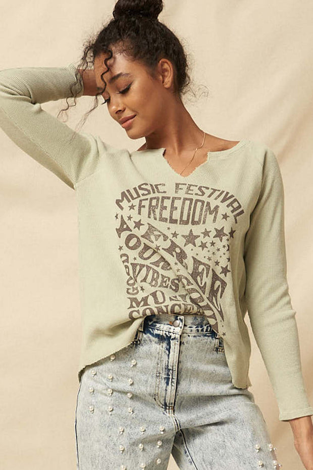 Freedom Festival Vintage Thermal Graphic Top - ShopPromesa