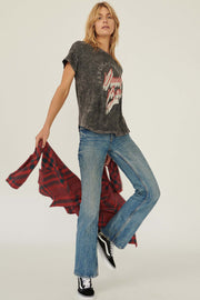 David Bowie Fascination Vintage-Wash Graphic Tee - ShopPromesa