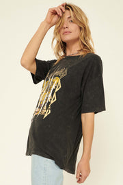 Def Leppard Distressed Leopard Graphic Tee - ShopPromesa