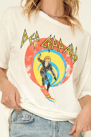 Def Leppard Comic Book Distressed Graphic Tee - ShopPromesa