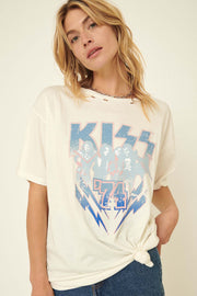 KISS 74 Oversized Distressed Graphic Tee - ShopPromesa