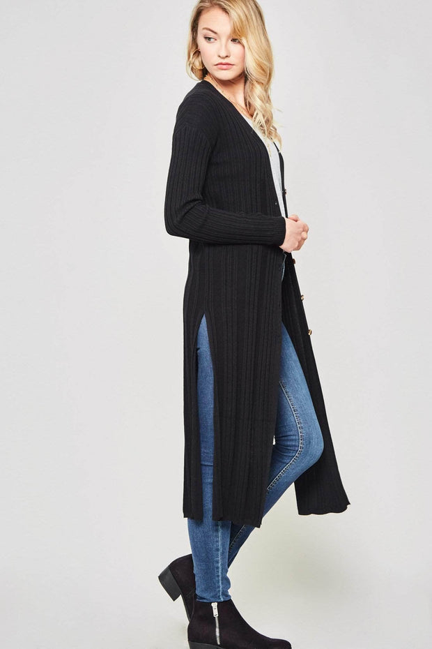 Enjoy the Ride Ribbed Knit Duster Cardigan - ShopPromesa