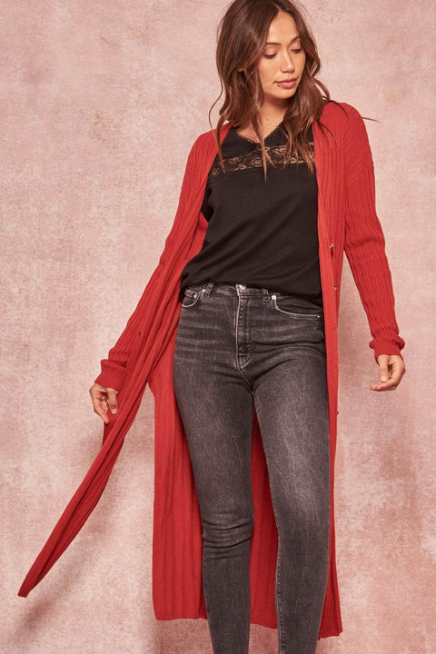 Enjoy the Ride Ribbed Knit Duster Cardigan