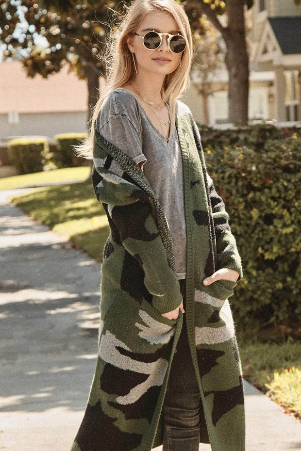 Out of Sight Camouflage Duster Cardigan - ShopPromesa