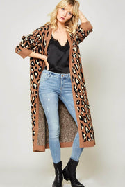 Jungle Book Leopard Knit Duster Cardigan - ShopPromesa
