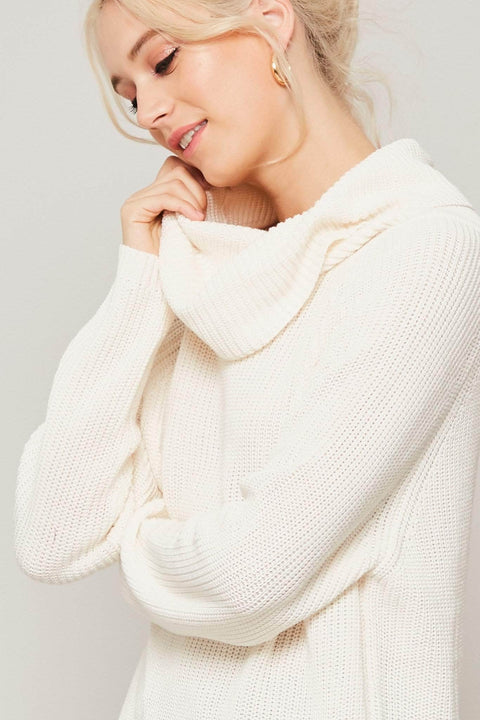 Sweater Than Ever Oversize Cowl Neck Sweater - ShopPromesa