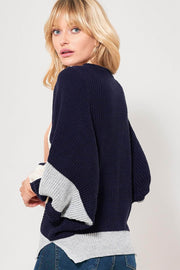 Strike a Juxtapose Colorblock Dolman Sweater - ShopPromesa