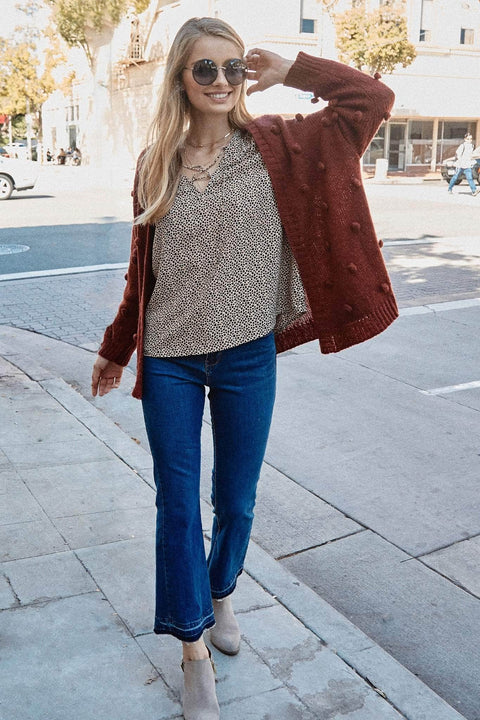 Having a Ball Pom-Pom Knit Cardigan - ShopPromesa