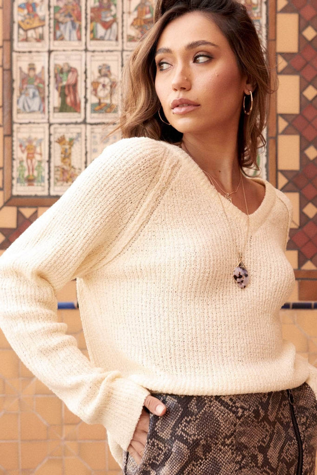 Warm Hearted Textured Rib-Knit Sweater - ShopPromesa