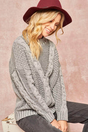 Get It Twisted Multi Cable Knit Sweater - ShopPromesa