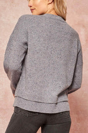 Soft Touch Layered-Hem Speckled Sweater - ShopPromesa