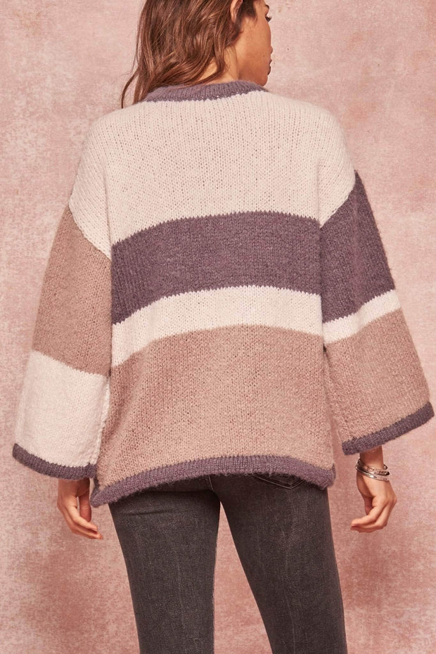 Modern Love Colorblock Wide-Sleeve Sweater - ShopPromesa