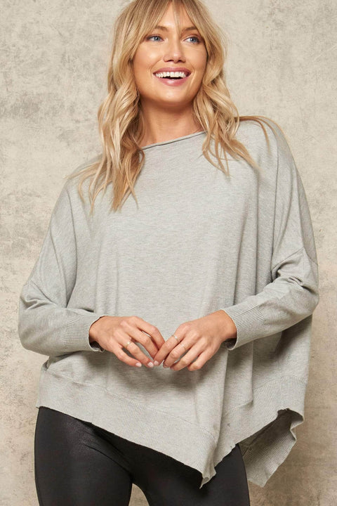 Big Easy Oversized Asymmetrical Sweater - ShopPromesa