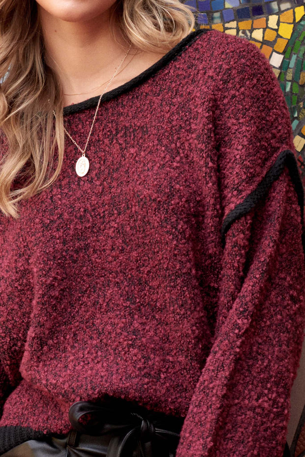 Into the Fray Distressed Popcorn Sweater - ShopPromesa