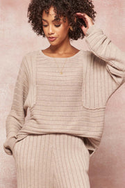 Easy Does It Rib-Knit Boatneck Raglan Sweater - ShopPromesa