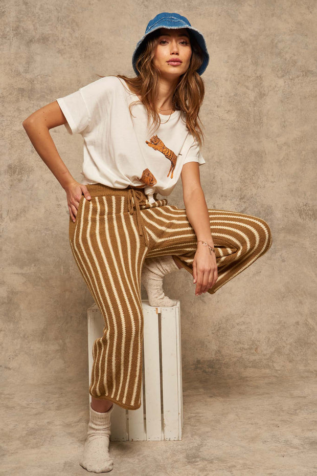 Sunday Funday Striped Pocket Sweater Pants - ShopPromesa