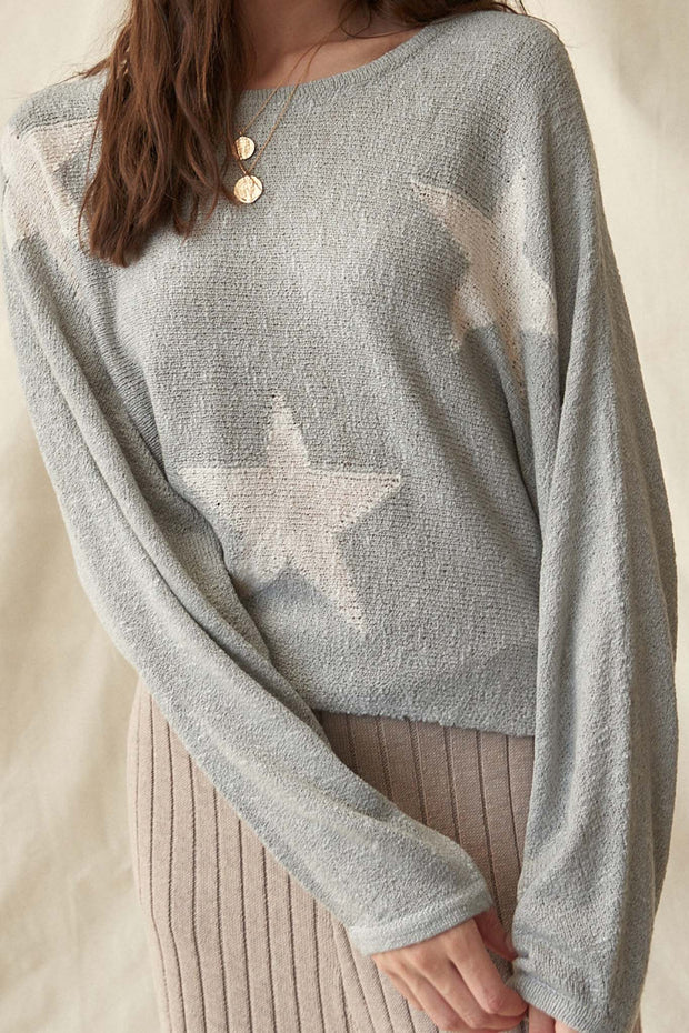 Supernova Star-Pattern Oversized Graphic Sweater - ShopPromesa
