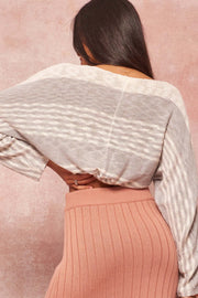 Rules of Play Striped Knit Cropped Sweater - ShopPromesa