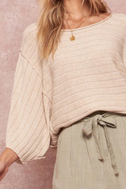 Born Free Exposed-Seam Cropped Rib-Knit Sweater - ShopPromesa