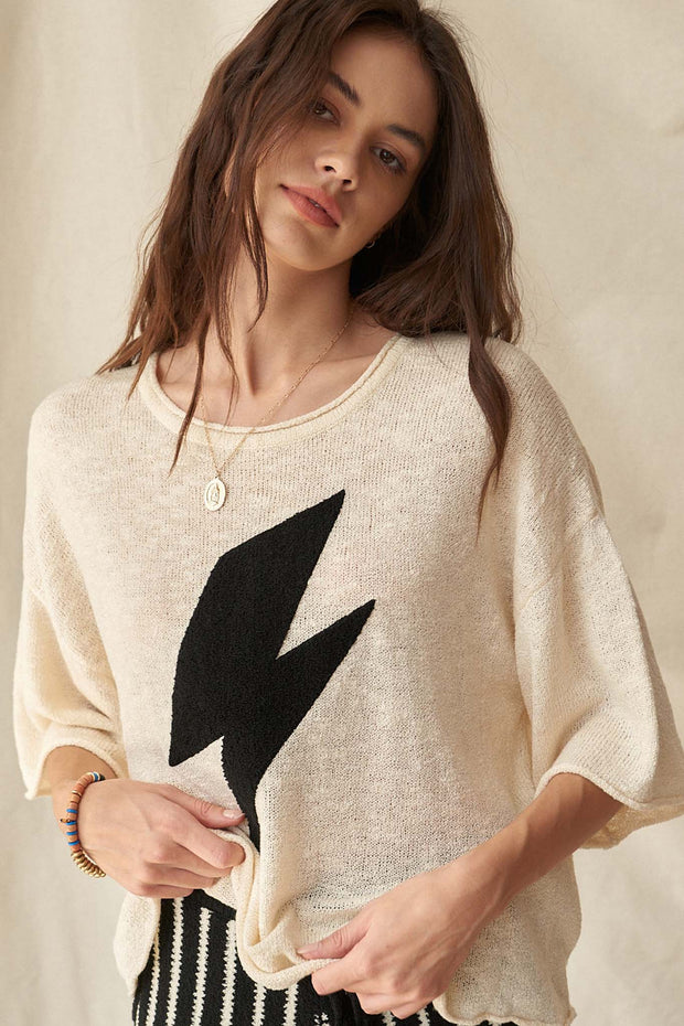 Storm Chaser Thunderbolt Graphic Sweater - ShopPromesa