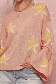In the Stars Wide-Sleeve Graphic Sweater - ShopPromesa