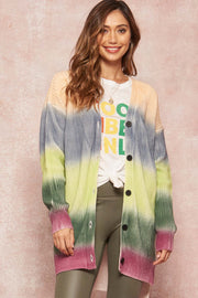 Rainbow Bright Ombre Colorblock Cardigan