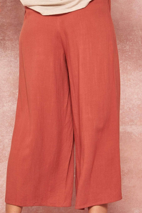 Hear Me Roar Pleated Cropped Gaucho Pants