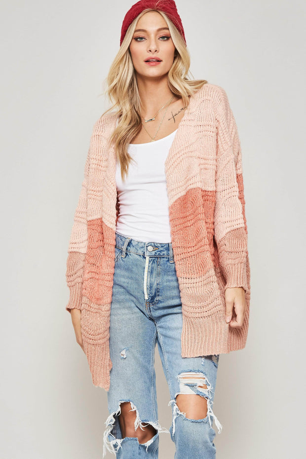 Making Waves Colorblock Cardigan - ShopPromesa