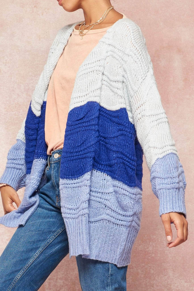 Making Waves Colorblock Cardigan