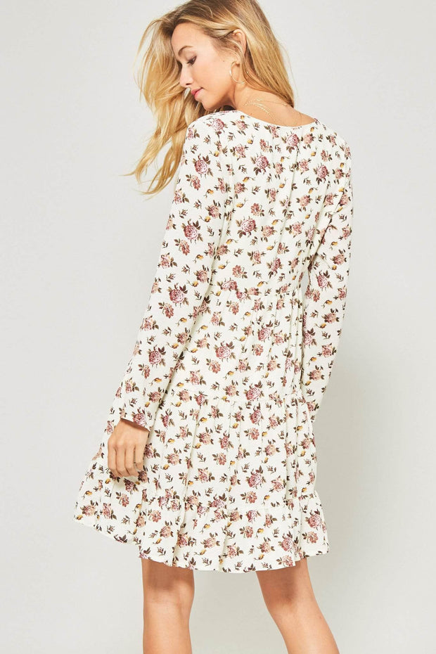 So-Called Life Floral Babydoll Mini Dress - ShopPromesa