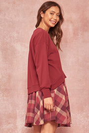All That Layered-Look Sweatshirt Dress