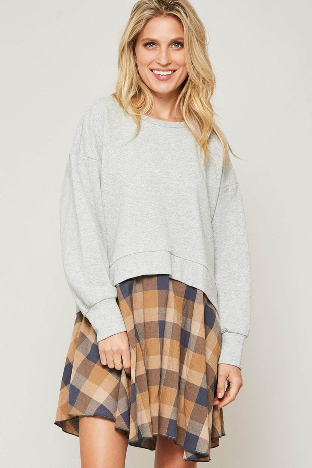 All That Layered-Look Sweatshirt Dress - ShopPromesa