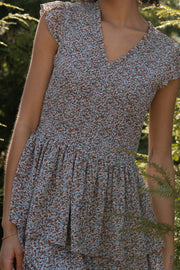 Garden Party Smocked Floral Tiered Mini Dress - ShopPromesa