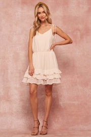 First Love Ruffled Gauze Mini Dress - ShopPromesa