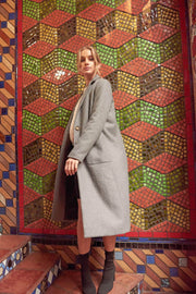 Femme Fatale Wool-Blend Button-Front Overcoat - ShopPromesa