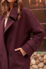 Notting Hill Wool-Blend Double-Breasted Overcoat