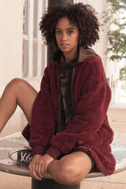 Furry Up and Wait Faux Fur Zip-Up Teddy Coat - ShopPromesa