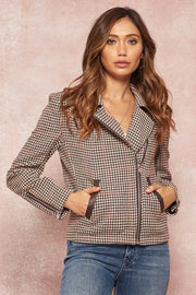 Baskerville Station Houndstooth Moto Jacket