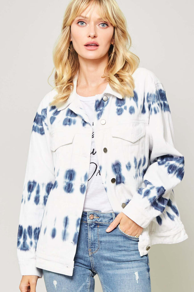Hit the Streets Tie-Dye Denim Jacket - ShopPromesa