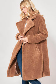 Huggy Bear Faux Shearling Wide-Lapel Teddy Coat - ShopPromesa
