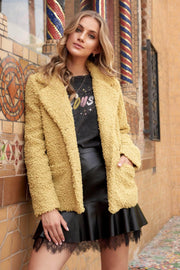 Wooly Bully Faux Shearling Pea Coat - ShopPromesa